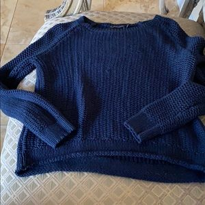 brandy melville navy blue knit sweater